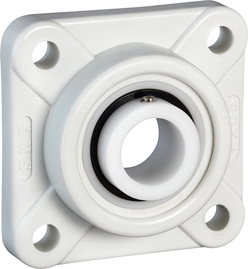 4 bolt flange with acetal insert bearing