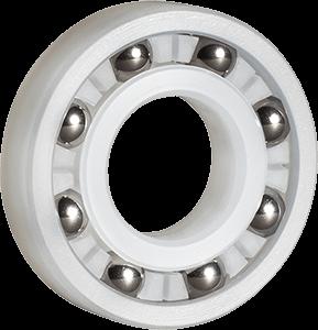 PVDF plastic radial ball bearings