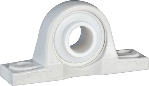 plastic pillow block with UHMW insert bearing