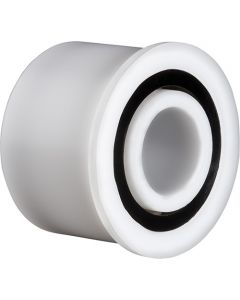 """1508NG, Oliver Design/Xyratex """"AFTER MARKET"""" Double Row Integrated Flange Plastic Ball Bearing for Disk Cleaning Machine 1/2"""" x 1.125"""" x .803"""""""